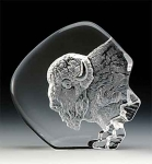 Buffalo Leaded Crystal Sculpture