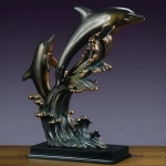 Large Bronze Coated Dolphin Sculpture