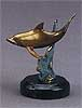 Single Bronze Dolphin Sculpture