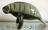 Stand up Manatee Sculpture