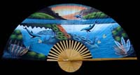 Large Decorative Dolphin Wall Fan