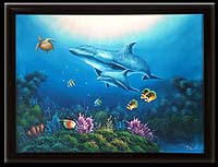 Dolphin & Sea Turtle Oil Painting (Large)