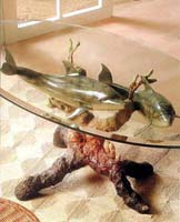Fine Art Dolphin Lovers Coffee Table