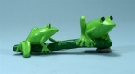 Double Green Tree Frogs on Branch Magnet