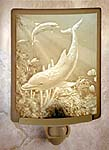 """Lithophane"" Dolphin Translucent Porcelain Night Light"