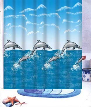 Mother & Baby Dolphin Shower Curtain