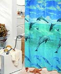 Jumping Dolphin Shower Curtain   FREE SHIPPING!